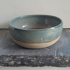 triskelpottery - Amaco's potter's choice light sepia and textured turquoise over blue midnight