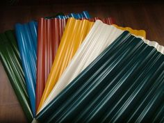Corrugated sheet roofing in Diferents Colors