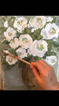 Flower Painting Discover Painting White Roses My process of painting white roses with acrylic on paper. Acrylic Painting Flowers, Acrylic Art, Acrylic Painting Canvas, Watercolor Paintings, Knife Painting, Abstract Flower Art, Diy Canvas Art, Arte Floral, Art Lessons