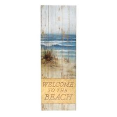 """One of my favorite discoveries at ChristmasTreeShops.com: 36"""" """"Welcome to the Beach"""" Wall Decor"""