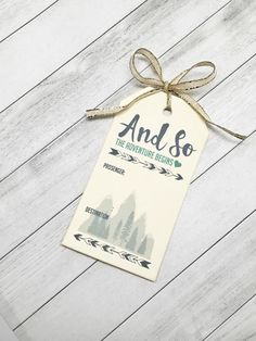 Wedding Place Cards - Personalized Mountain Ski Escort Cards - Snowflake Woods Themed Seating Cards - Set of 50 tags