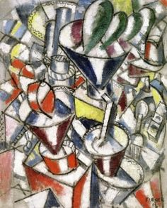 Still Life with Colored Cylinders - Fernand Léger - The Athenaeum