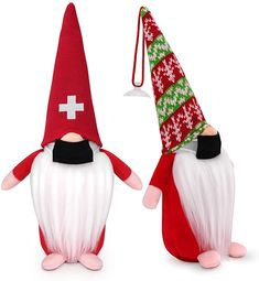 Amazon.com: OPOELMIN 2 Pack Christmas Gnome Plush Doll- Holiday Handmade Swedish Santa Gnome Scandinavian Tomte Nisse Nordic Gnomes- Christmas Plush Elf Doll Gnome Ornament- Thanks Giving Day Gifts Decor-10 inch: Home & Kitchen