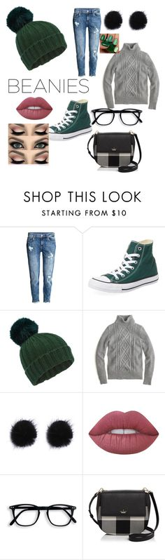 """Untitled #7"" by mallariekidd ❤ liked on Polyvore featuring H&M, Converse, Miss Selfridge, J.Crew, Lime Crime and Kate Spade"