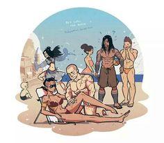 LOK The Beach M:Do Sand Sculpture for kids. G:Playing beach volleyball and be popular. Z+P:Couple time. Avatar Kyoshi, Korra Avatar, Team Avatar, Aang, The Last Avatar, Avatar The Last Airbender Art, Final Fantasy Anime, Prince Zuko, Dark Books