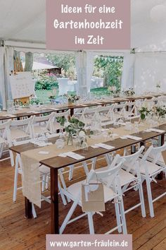 Garden wedding in the tent: Here you will find nice DIY ideas for your gardening . Garden Wedding, Dream Wedding, Wedding Decorations, Table Decorations, Diy Furniture Plans, Big Party, Diy Makeup, Weddingideas, Tent