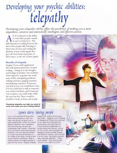 Divination: Developing Your Psychic Abilities: #Telepathy.  intuitivepsychicmedium.com