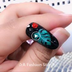 Art For Beginner ✰A Fashion Star✰ Nail Designs For Beginner - Nail Art For Beginner-Most girls want to have beautiful nails. For girls, having beautiful nails is a temperament.Nail Designs For Beginner - Nail Art For Beginner-Mo. Star Nail Designs, Nail Art Designs Videos, Classy Nail Designs, Nail Design Video, Nail Art Videos, Beautiful Nail Designs, Beautiful Nail Art, Easy Nail Art, Cool Nail Art