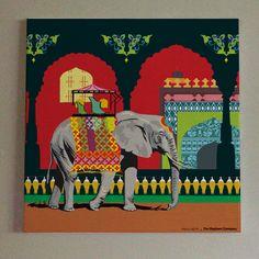 Mughal Elephant Canvas Wall Art by The Elephant Company & Mumbai Skyline Wall Art by The Elephant Company | Wall Art ...