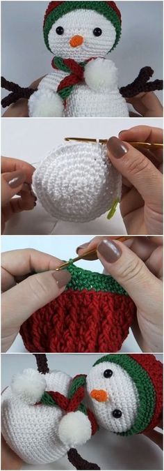 Crochet Amigurumi Snowman Step By Step