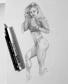 Portrait I drew of Nikki Blackletter in 2016.