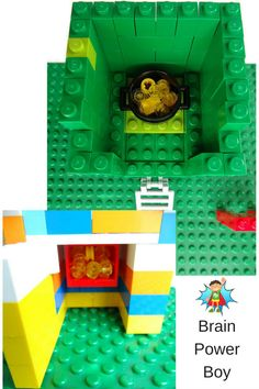 Inside view of our fun LEGO leprechaun traps for St. Patrick's Day