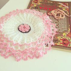 Pembe Beyaz Lafana Lİf #knitting #lif #elisi #örgü #hobiler #çeyiz #ceyiz #orgu