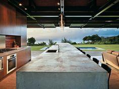 Casa de praia deslumbrante no Havaí. #Arquitetura #praia A minha cozinha de jardim!
