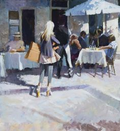 ✿Time For Coffee & Tea✿ David Farrant ~ Modern Cafe