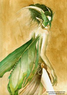 The Emerald Fairy by chicourano.deviantart.com on @deviantART