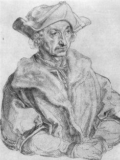 Artist: Dürer, Albrecht, Title: Porträt eines Mannes (Sebastian Brant), Date: 1520-1521
