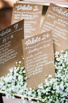 Wedding reception seating card idea; Photo: W Studios New York