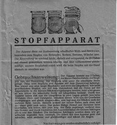 Stopfwebapparat aus dem Deutschen Reich www.eichwaelder.de