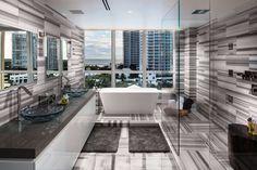 The Hilton Bentley Penthouse bath room in South Beach