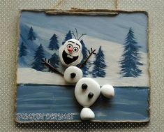Christmas painting on stones and pebbles: 125 ideas for crea.- Christmas painting on stones and pebbles: 125 ideas for creativity with children Christmas Pebble Art, Christmas Rock, Christmas Crafts, Natural Christmas, Christmas Ideas, Stone Crafts, Rock Crafts, Pebble Painting, Stone Painting