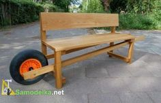 garden bench DIY idea