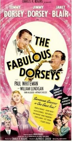 """Synopsis: The biography of the Dorsey Brothers. Though the Big Band era crown The Dorsey Brothers as one of swingdom's greatest musical teams, their feuding since childhood was also legendary. Quarrelling brothers are reunited on the death of their father. This is their biography featuring many of their hit songs, such as """"Marie"""" and """"Green Eyes"""" highlighted by a jam session with Art Tatum, Charlie Barnet, Ziggy Elman and Ray Bauduc.Starring: Tommy Dorsey, Jimmy Dorsey / 1947"""