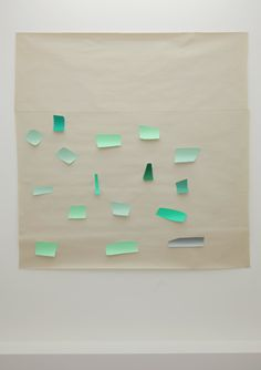 Guy Mees Zonder Titel (Verloren Ruimte) 1994 coloured paper clippings on paper 150 x 147,5 cm unique