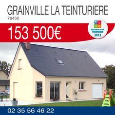 Devenez propriétaire de cette maison d'une surface habitable de 95m² comprenant 3 chambres et un garage sur un terrain viabilisé de 800m² à GRAINVILLE-LA-TEINTURIERE (76450) pour 153 500€. Plus de renseignements au 02.35.56.46.22