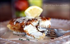 Hawaiian Crunch Halibut with Lemon Butter Sauce.  Looks so amazing- definitely on my to make NOW list!