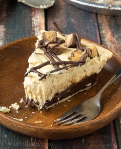 Chocolate Bottomed Peanut Butter Pie - I could eat this every day for the rest of my life and never tire of it! :)