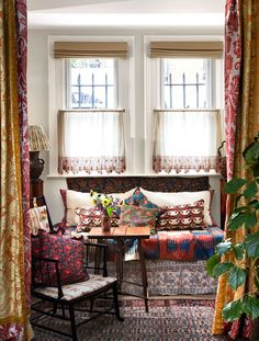 Of all the big-gun design books coming out this season, none has been more hotly anticipated than that of the textile designer and alchemist of 19th-century style, Nathalie Farman-Farma. #patterns #home #hometour #londonhome #patternmixing #textiles #colorfulhome #interiordesign #homeinspo #elledecor