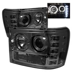 Vehicle Lighting products by Spyder Auto including Gmc Sierra Halo LED Projector Headlights - Smoke Part Number We also offer Headlights for many of today's most popular vehicles. Gmc Sierra Denali, Gmc Sierra 2500hd, 2014 Gmc Sierra, Truck Room, Truck Bed, Truck Tailgate, Projector Headlights, Led Projector, Sierra 1500