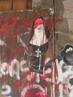 IMG_9031 by Diane Silveria, via Flickr  Barcelona  Fanulous street art!