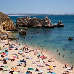 Lagos, Portugal The Ultimate Beach Vacation Bucket List via Vacations To Go, Vacation Trips, Portugal, Best Places To Travel, Places To Go, Trip To Bora Bora, Beach Bucket, Water Pictures, Sand And Water