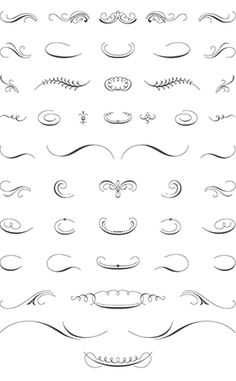 Luxurious Flourishes Vector Pack Vector Ornaments - Luxury printable scroll template concept