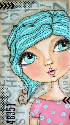 New Doll Drawing Mixed Media 54 Ideas Doll Drawing, Drawing Faces, Art Drawings, Painting & Drawing, Painting Tips, Mixed Media Faces, Mixed Media Art, Mix Media, Art Journal Pages