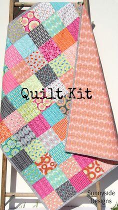 Retro Baby Quilt Kit, For You Zen Chic Moda Fabrics