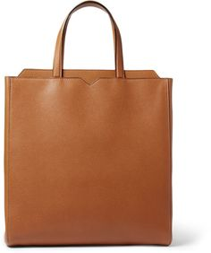 Valextra Leather Tote Bag