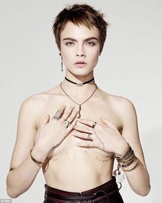 Cara Delevingne poses TOPLESS for racy Dior ad campaign | Daily Mail Online