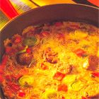 Een heerlijk recept: Cajun omelet Omelet, Delicious Food, Chili, Curry, Soup, Eggs, Ethnic Recipes, Omelette, Curries