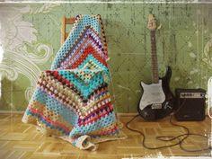 Items similar to Rainbow square lid on Etsy Stripes, Rainbow, Crafty, Blanket, Crochet, Handmade, Etsy, Ceilings, Rainbows