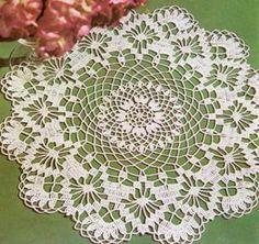 Doily Hortensia  crochet scheme
