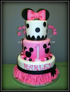 LOVE this!!  Maybe I can convince Kaleigh to have a Minnie Mouse Party this year!!