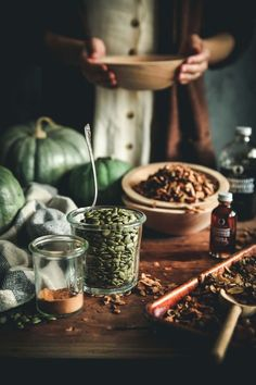 Nutritious Snack Tips For Equally Young Ones And Adults Maple Spiced Pumpkin Seed Granola Granola, Dark Food Photography, Flash Photography, Photography Backdrops, Photography Business, Pumpkin Spice, Spiced Pumpkin, Food Pictures, Street Food