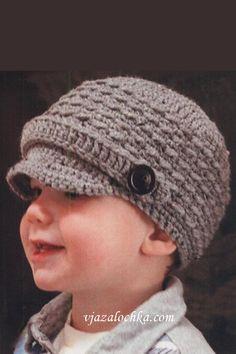 вязаные кепки для мальчиков крючком.