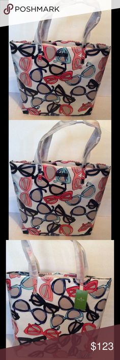 "Kate Spade Daycation Bon Shopper Tote Bag Kate Spade Daycation Bon Shopper Tote Bag  ~ Sunglass print  ~ 2 inside slip pockets ~ Length 12.3"" Height 13.5"" Depth 5.1"" ~ Printed coated poplin ~ Dual Handles 8.3"" Drop  New with tags No Trades No Holds kate spade Bags Totes"