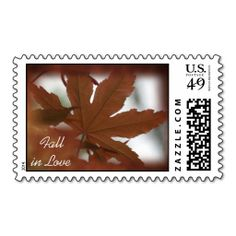Fall in Love Japanese Maple Wedding Postage Stamp. It is really great to make each letter a special delivery! Add a unique touch to invites or cards with your own photos or text. Just click the image to learn more!