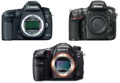 Here is a full specs comparison for three best full frame DSLRs in the world: Canon EOS 5D Mark III, Nikon D800, Sony SLT-A99. Take a look below:    Feature Canon 5D Mark III Nikon D800 Sony A99     Sensor Resolution 22.3 Million 36.3 Million 24.3 Million   Sensor Type CMOS CMO
