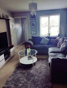 Corner Sofa Living Room, Living Room Furniture Layout, Living Room Interior, Living Room Designs, Living Spaces, Living Rooms, Persimmon Homes, My Ideal Home, Grey Walls